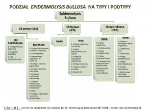 Podział Epidermolysis Bullosy na typy i podtypy